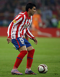 12.05.2010, Hamburg Arena, Hamburg, GER, UEFA Europa League Finale, Atletico Madrid vs Fulham FC, im Bild Action picture involving Atletic Madrid's Jose Antonio Reyes, EXPA Pictures © 2010, PhotoCredit: EXPA/ IPS/ Marcello Pozzetti / SPORTIDA PHOTO AGENCY