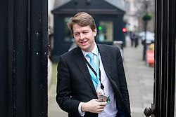 © Licensed to London News Pictures. 09/01/2018. London, UK. Robin Walker MP leaving Downing Street this morning. Yesterday British Prime Minister Theresa May reshuffled her cabinet, appointing some new ministers. Photo credit : Tom Nicholson/LNP