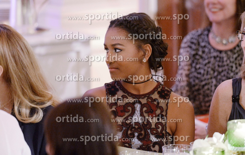 Sasha Obama attends a state dinner at the White House honoring Prime Minister Justin Trudeau and Mrs. Sophie Gr&eacute;goire Trudeau of Canada March 10, 2016 in Washington, DC. EXPA Pictures &copy; 2016, PhotoCredit: EXPA/ Photoshot/ Olivier Douliery<br /> <br /> *****ATTENTION - for AUT, SLO, CRO, SRB, BIH, MAZ, SUI only*****