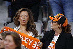 (L-R) Rebecca Cabau van Kasbergen, Richarda van Kasbergen during the International friendly match match between The Netherlands and Peru at the Johan Cruijff Arena on September 06, 2018 in Amsterdam, The Netherlands