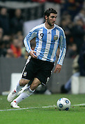 Argentina's Gonzalo Higuain in action during the international friendly match between Spain and Argentina in Madrid, Spain on November 14 2009.