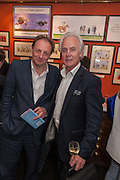 MURRAY SHANKS; PADDY RENOUF, Elliott and Thompson host a book launch of How the Queen can Make you Happy by Mary Killen.- Book launch. The O' Shea Gallery. St. James's St. London. 20 June 2012.