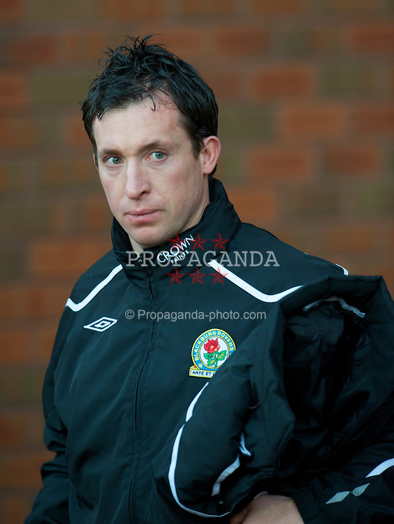 BLACKBURN, ENGLAND - Saturday, December 6, 2008: Former Liverpool striker, Robbie 'God' Fowler starts another game for Blackburn Rovers on the substitute's bench during the Premiership match at Ewood Park. No wonder manager Paul Ince is under-pressure, leaving a formidable scoring talent such as Fowler out of the team. (Photo by David Rawcliffe/Propaganda)