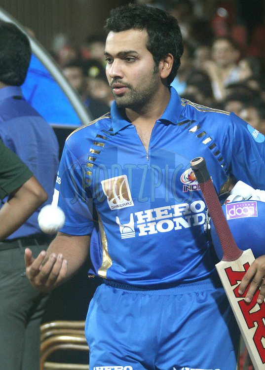 Rohit Sharma after the match 8 of the the Indian Premier League ( IPL ) Season 4 between the Royal Challengers Bangalore and the Mumbai Indians held at the Chinnaswamy Stadium, Bangalore, Karnataka, India on the 12th April 2011..Photo by Vino John/BCCI/SPORTZPICS