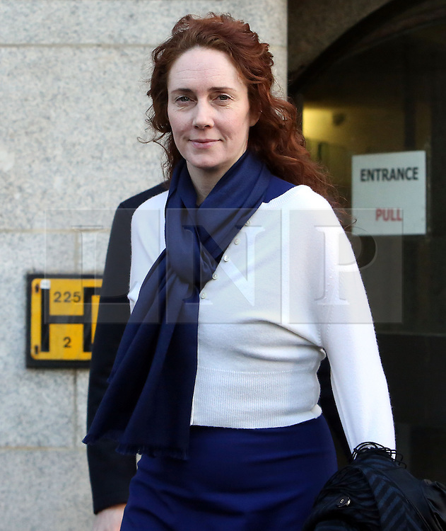 © Licenced to London News Pictures. 20/02/2014. London. UK.  <br /> Former News of the World editor Rebekah Brooks is pictured leaving the Central Criminal Court during her week of giving evidence at the phone-hacking trial at the Old Bailey in London, February 20th 2014.<br /> Photo Credit: Susannah Ireland