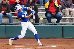 21 April 2018:  Kailee Smith during a Missouri Valley Conference (MVC) women's softball game between the Drake Bulldogs and the Illinois State Redbirds on Marian Kneer Field in Normal IL