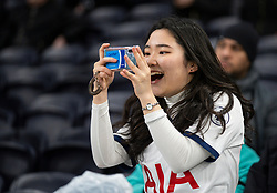 LONDON, ENGLAND - Saturday, January 11, 2020: A Tottenham Hotspur supporter during the FA Premier League match between Tottenham Hotspur FC and Liverpool FC at the Tottenham Hotspur Stadium. (Pic by David Rawcliffe/Propaganda)