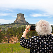 Devils Tower National Monument in northeastern Wyoming is a monolith made up of igneous rock, phonolite. The tower is held sacred by Native American tribes including the Arapaho, Crow, Cheyenne, Kiowa, Lakota, and Shoshone.  Devils Tower was a location for the movie Close Encounters of the Third Kind.<br /> Photography by Jose More MR Model Release