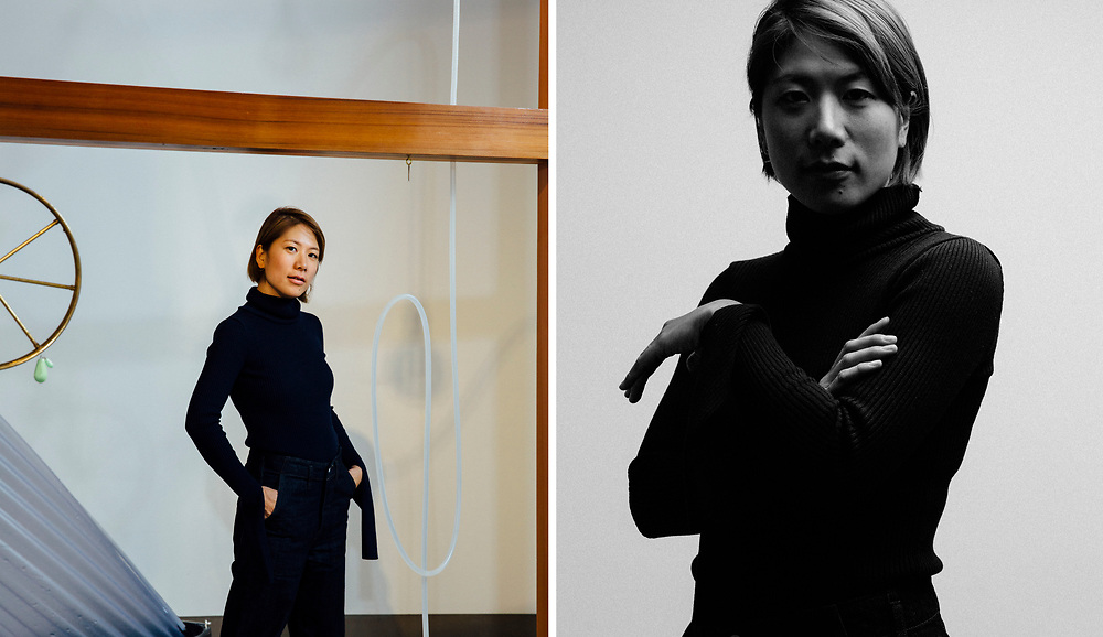 Japanese artist Yuko Mohri photographed in London at White Rainbow gallery, by Greg Funnell, 14th February 2017.
