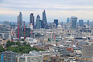 Panorama aerial view of London