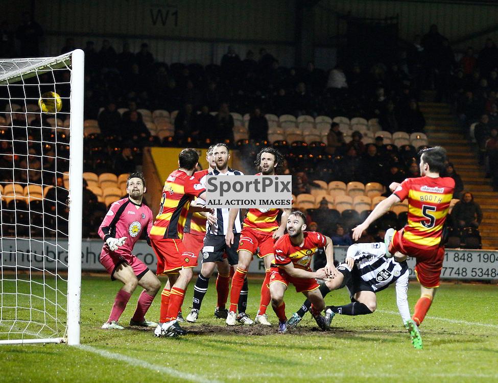 St.Mirren v Partick Thistle, Scottish Cup 4th round....Keith Watson scores for St.Mirren.....(c) STEPHEN LAWSON | SportPix.org.uk