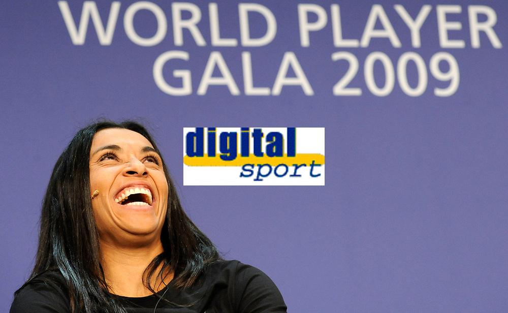Marta (BRA) waehrend der Pressekonferenz. © Valeriano Di Domenico/EQ Images