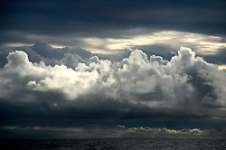 NORTHERN PACIFIC ESPERANZA NOV07 - Illuminated rainclours during sunset seen from aboard the MY Esperanza in the northern Pacific...jre/Photo by Jiri Rezac..© Jiri Rezac 2007..Contact: +44 (0) 7050 110 417.Mobile:  +44 (0) 7801 337 683.Office:  +44 (0) 20 8968 9635..Email:   jiri@jirirezac.com.Web:    www.jirirezac.com..© All images Jiri Rezac 2007 - All rights reserved.