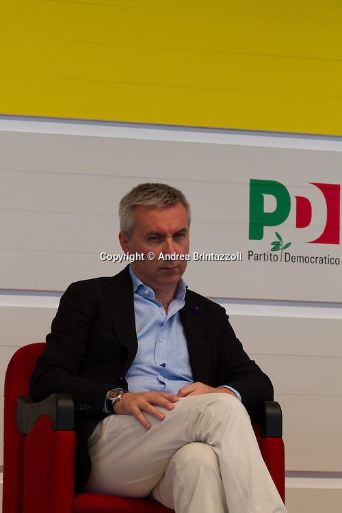 Bologna 01 Settembre 2014 - Festa dell'Unità - Dibattito: Nel cuore della democrazia: le riforme elettorali. Nella foto Lorenzo Guerini