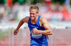 31.05.2015, Moeslestadion, Goetzis, AUT, 41. Hypo Meeting Goetzis 2015, Zehnkampf der Herren, 110 m Huerden, im Bild Jan Deuber (SUI) // Jan Deuber of Switzerland during the 41. Hypo Meeting Goetzis 2015, Men' s decathlon, 110 meters at the Moeslestadion, Goetzis, Austria on 2015/05/31. EXPA Pictures © 2015, PhotoCredit: EXPA/ Peter Rinderer