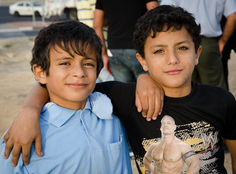Bedouin boys from Israel's Negev Desert.
