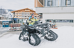 06.02.2020, Zwölferkogel, Hinterglemm, AUT, FIS Weltcup Ski Alpin, Saalbach Hinterglemm, Vorberichte, im Bild Hannes Stöckl (Technik und Aufbauten Strecke) // before the FIS Ski Alpine World cup at the Zwoelferkogel in Hinterglemm, Austria on 2020/02/06. EXPA Pictures © 2020, PhotoCredit: EXPA/ JFK
