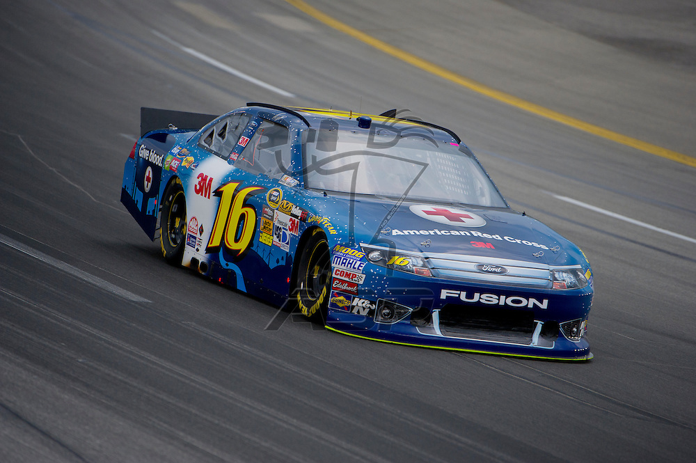 Sparta, KY - JUN 29, 2012: Greg Biffle (16) during qualifying for the Quaker State 400 at Kentucky Speedway in Sparta, KY.