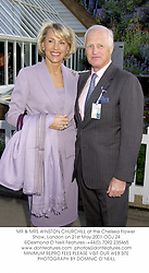 MR & MRS WINSTON CHURCHILL at the Chelsea Flower Show, London on 21st May 2001.	OOJ 24