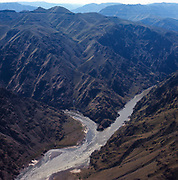 The confluence of the Salmon River (L) and the Snake River in the lowerr end of Hells Canyon.  Photogrpher Norton led the fight to stop a major dam in the 1960s that would have flooded this gorge.