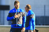 Shaun SOWERBY / Jake WHITE - nouveau coach - 31.12.2014 - Rugby - Entrainement Montpellier - Top 14<br />Photo : Nicolas Guyonnet / Icon Sport