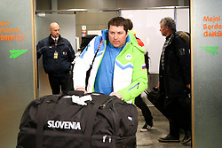 Mitja Kunc at reception of Slovenia team arrived from Winter Olympic Games Sochi 2014 on February 24, 2014 at Airport Joze Pucnik, Brnik, Slovenia. Photo by Vid Ponikvar / Sportida