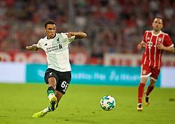 MUNICH, GERMANY - Tuesday, August 1, 2017: Liverpool's Trent Alexander-Arnold during the Audi Cup 2017 match between FC Bayern Munich and Liverpool FC at the Allianz Arena. (Pic by David Rawcliffe/Propaganda)