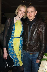 Model JADE PARFITT and TOBY BURGESS at a party hosted by Daniella Helayel of fashion label ISSA held at Taman Gang, 141 Park Lane, London on 15th February 2006.<br />