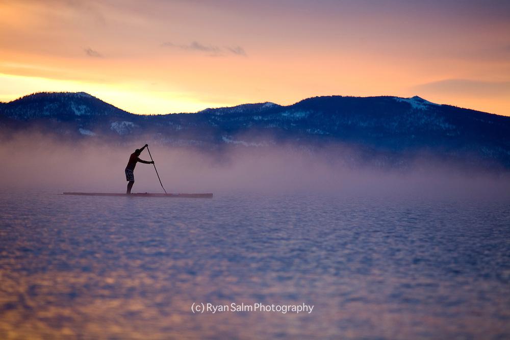 Winter Paddle on Lake Tahoe <br /> Jake Lamberth