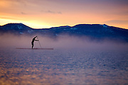 Winter Paddle on Lake Tahoe <br />