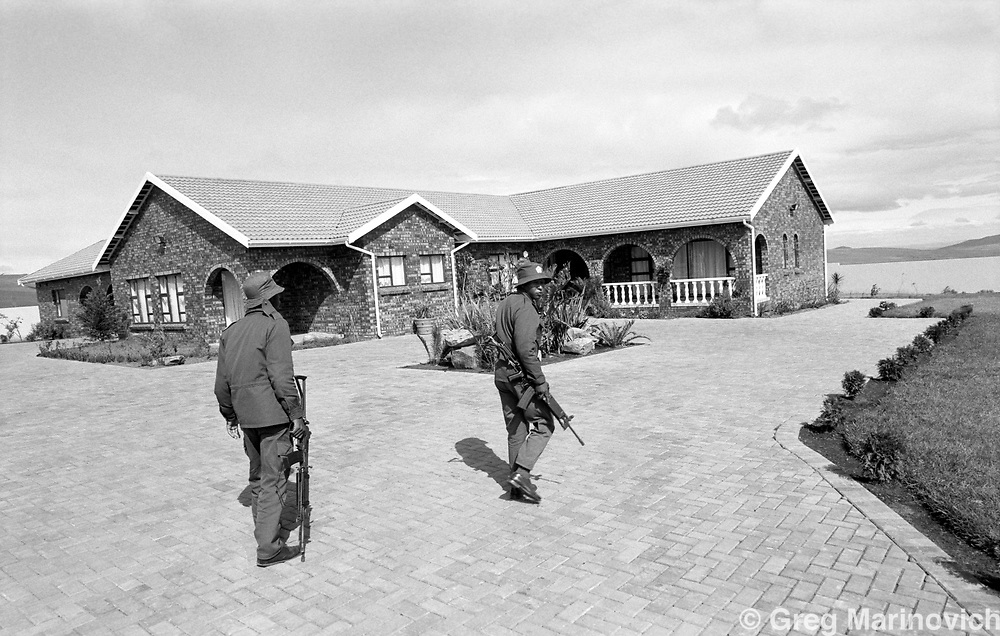 Qunu, Transkei, South Africa: Nelson Mandela's house, 31 April 199-, Qunu, Mandela's birthplace. The house is an exact replica of the warders house at Pollsmoor prison where he spent the last years of his 27 year imprisonment.