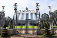 The front gates of the Independence Place, Ho Chi Minh City, Vietnam