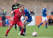 Daniel Norouzi (FC Helsingør) under kampen i 2. Division mellem Holbæk B&I og FC Helsingør den 20. oktober 2019 i Holbæk Sportsby (Foto: Claus Birch).