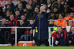 Arsenal Manager Arsene Wenger shouts from the touchline - Mandatory byline: Jason Brown/JMP - 07966386802 - 09/01/2016 - FOOTBALL - Emirates Stadium - London, England - Arsenal v Sunderland - The Emirates FA Cup