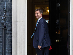 © Licensed to London News Pictures. 10/07/2018. London, UK. Foreign Secretary Jeremy Hunt arrives on Downing Street for the Cabinet meeting. Photo credit: Rob Pinney/LNP