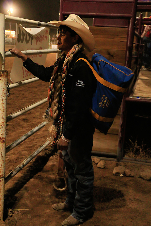 Chase from Farmington N.M. waiting for his turn to ride