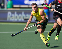 Hockey World Cup 2014<br /> The Hague, Netherlands <br /> Day 5- Men Australia v Belgium<br /> Jeremy hayward<br /> <br /> Photo: Grant Treeby<br /> www.treebyimages.com.au