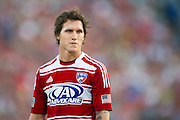 FRISCO, TX - JUNE 22:  Zach Loyd #17 of FC Dallas looks on against Sporting Kansas City on June 22, 2013 at FC Dallas Stadium in Frisco, Texas.  (Photo by Cooper Neill/Getty Images) *** Local Caption *** Zach Loyd
