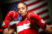 6/24/11 2:34:41 PM -- Colorado Springs, CO. -- A portrait of U.S. Olympic lightweight boxer Queen Underwood, 27, of Seattle, Wash. who will be competing for her fifth title. She began boxing in 2003 and was the 2009 Continental Champion and the 2010 USA Boxing National Champion. She is considered a likely favorite to medal at the 2012 Summer Olympics in London as women's boxing makes its debut as an Olympic sport. -- ...Photo by Marc Piscotty, Freelance.