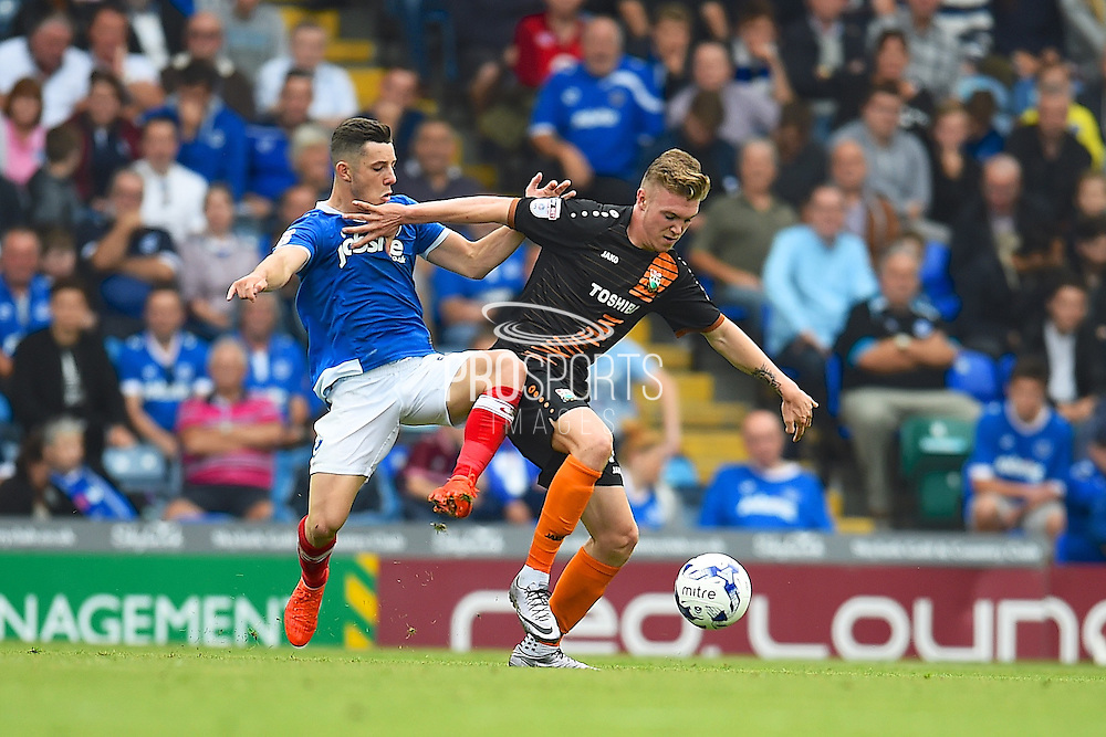 Barnets Ryan Watson protects the ball in the first half  during the EFL Sky Bet League 2 match between Portsmouth and Barnet at Fratton Park, Portsmouth, England on 24 September 2016. Photo by Ian  Muir. during the EFL Sky Bet League 2 match between Portsmouth and Barnet at Fratton Park, Portsmouth, England on 24 September 2016. Photo by Ian  Muir.
