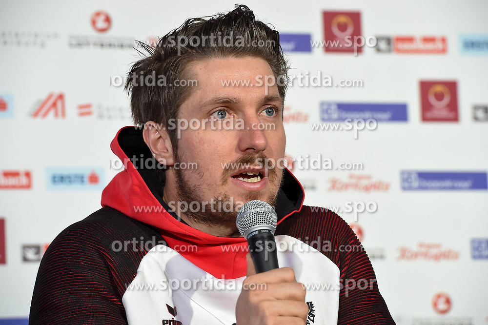 11.02.2018, Austria House, Pyeongchang, KOR, PyeongChang 2018, Pressekonferenz, im Bild Marcel Hirscher // Marcel Hirscher during a Pressconference of the Austrian Olympic Team at the Austria House in Pyeongchang, South Korea on 2018/02/11. EXPA Pictures © 2018, PhotoCredit: EXPA/ Erich Spiess