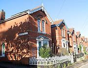 Edwardian housing in Woodbridge, Suffolk, England, UK