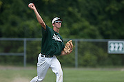 West Deptford's Tommy Jakubowski throws a runner out at first during a elimination bracket game of the Eastern Regional Senior League tournament held in West Deptford on Monday, August 8.
