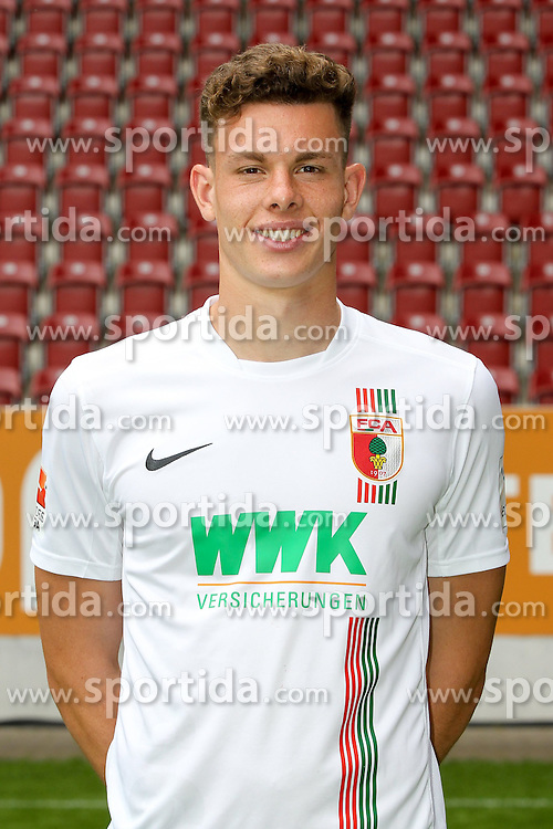 08.07.2015, WWK Arena, Augsburg, GER, 1. FBL, FC Augsburg, Fototermin, im Bild Max Reithaler #36 (FC Augsburg) // during the official Team and Portrait Photoshoot of German Bundesliga Club FC Augsburg at the WWK Arena in Augsburg, Germany on 2015/07/08. EXPA Pictures © 2015, PhotoCredit: EXPA/ Eibner-Pressefoto/ Kolbert<br /> <br /> *****ATTENTION - OUT of GER*****