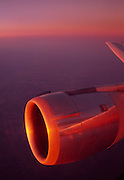 Airplane in sunset<br />