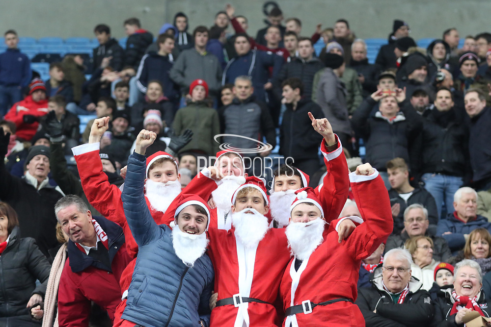 Cheltenham fans in fancy dress during the EFL Sky Bet League 2 match between Coventry City and Cheltenham Town at the Ricoh Arena, Coventry, England on 16 December 2017. Photo by Antony Thompson.
