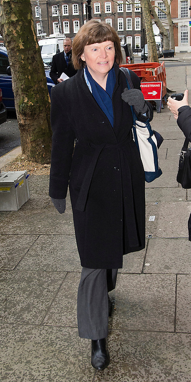 © London News Pictures. 09/02/2013 . London, UK. Melanie Leech, from The Food and Drink Association,  arriving at the Department for the Environment, Food and Rural Affairs in London where Secretary of State for Environment, Food and Rural Affairs, Owen Paterson is holding a summit to discuss the unfolding scandal over horsemeat being found in various products.. Photo credit : Ben Cawthra/LNP