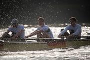 Putney, London, Pre Boat Race Fixture, <br /> Cambridge University Boat Club {CUBC} v Germany over the River Thames, Championship Course Putney to Mortlake, Saturday 12/03/2016. [Mandatory Credit; Patrick White/Intersport-images]<br /> <br /> Cambridge on , Crew, Bow: Felix Newman – 83.2kg, 2: Ali Abbasi – 88.4kg, 3: Charles Fisher – 91.8kg, 4: Clemens Auersperg – 90.4kg, 5: Luke Juckett – 82.0kg, 6: Henry Hoffstot –  92.6kg, 7: Ben Ruble – 83.4kg, Stroke: Lance Tredell – 94.2kg, Cox: Ian Middleton – 54.0kg