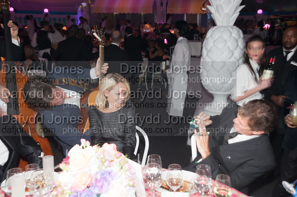 Hayley Roberts; David Hasselhoff;, Grey Goose Winter Ball to benefit the Elton John Aids Foundation. Battersea Power Station. London. 10 November 2012.