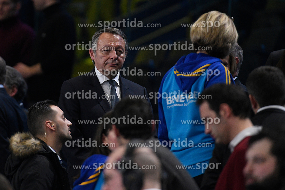 Thierry Braillard during 25th IHF men's world championship 2017 match between France and Slovenia at Accord hotel Arena on january 26 2017 in Paris. France. PHOTO: CHRISTOPHE SAIDI / SIPA / Sportida